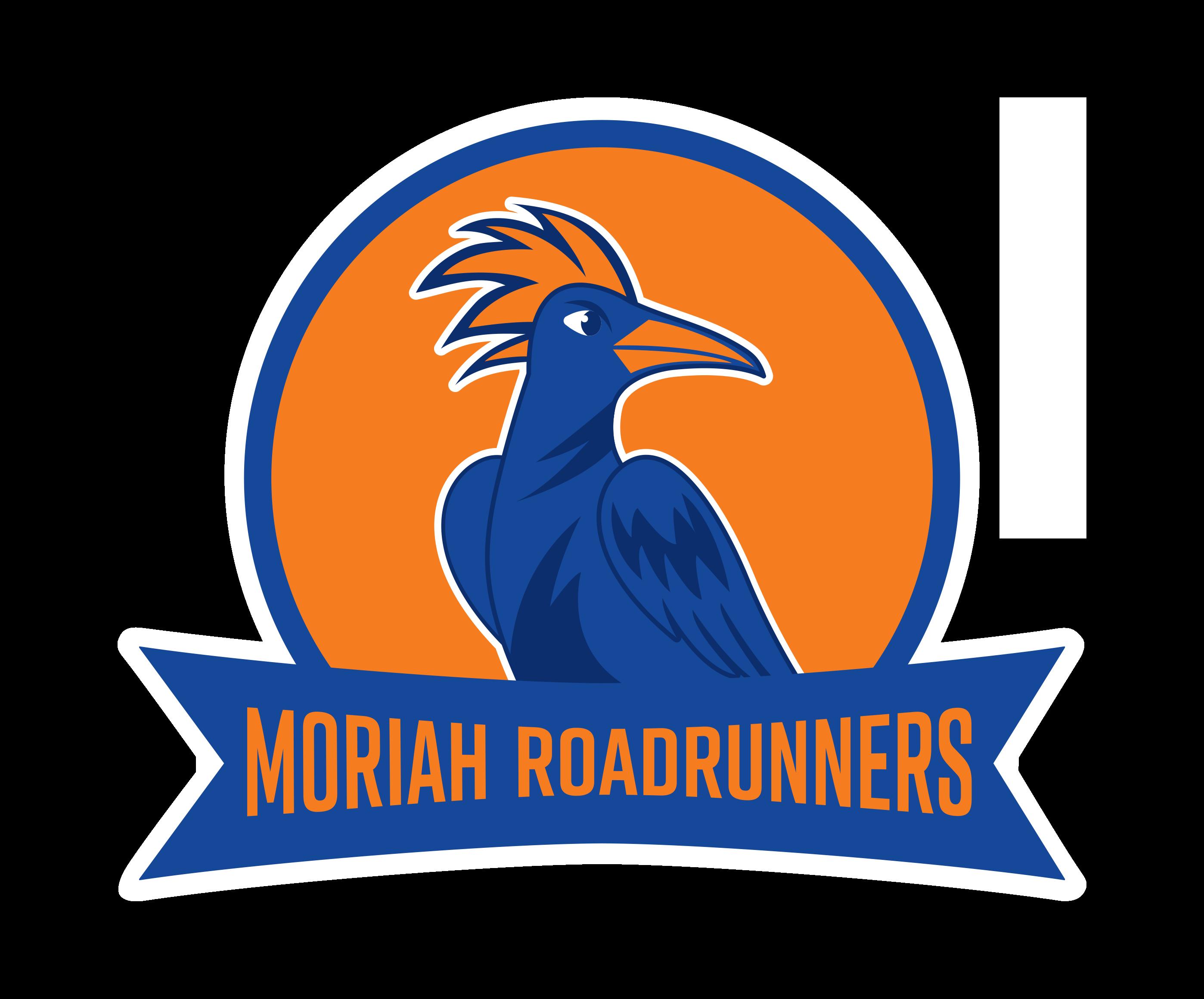 Roadrunner basketball clipart picture black and white Moriah Roadrunners picture black and white