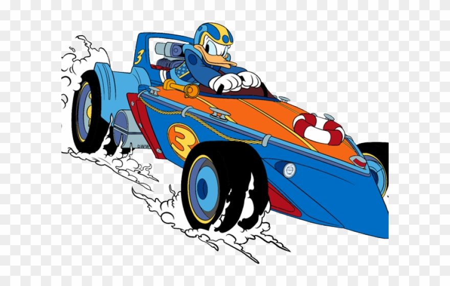Roadster clipart banner library library Racer Clipart Donald Duck - Mickey Roadster Racers Donald ... banner library library