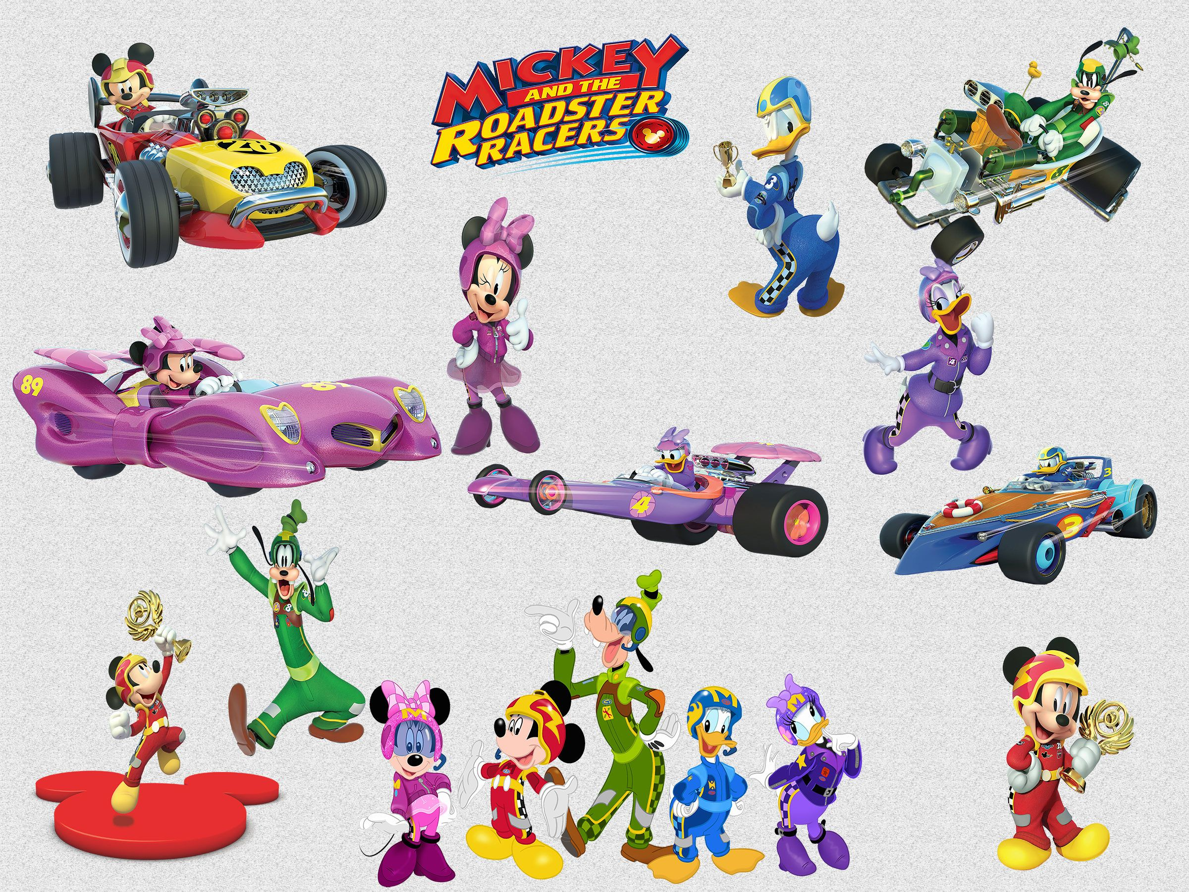 Roadster clipart banner library stock 26 Mickey and the Roadster Racers Clipart, 300 DPI, PNG ... banner library stock
