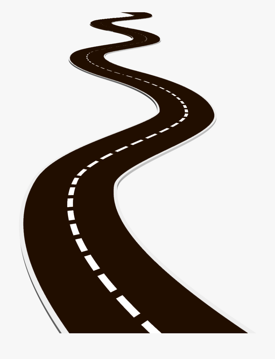 Roadway clipart graphic black and white Road - Transparent Background Roadway Clipart, Cliparts ... graphic black and white