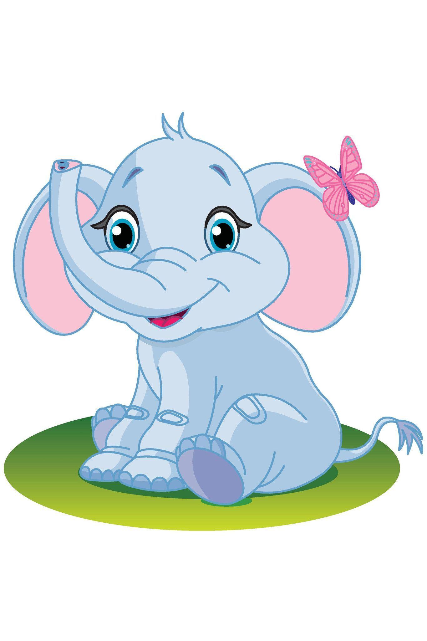 Roam clipart picture royalty free download Elephant Decoration Panel | children clip art | Cute baby ... picture royalty free download