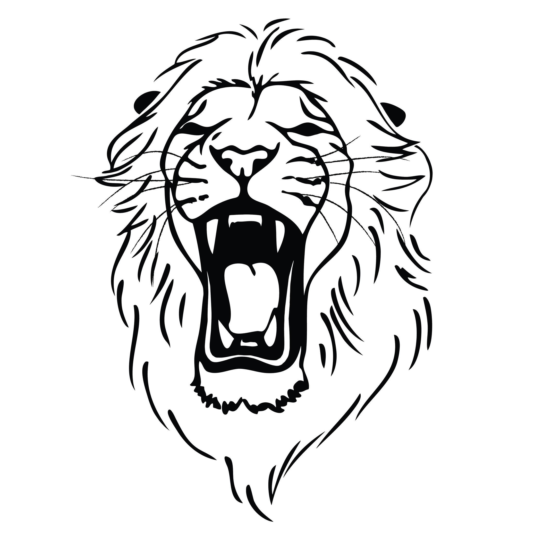 Lion clipart easy laying down black and white svg black and white download Lion Roaring Drawing | Clipart Panda - Free Clipart Images ... svg black and white download