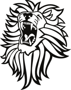 Lion roaring front view clipart png free Roaring Lion clip art - vector clip art online, royalty free ... png free