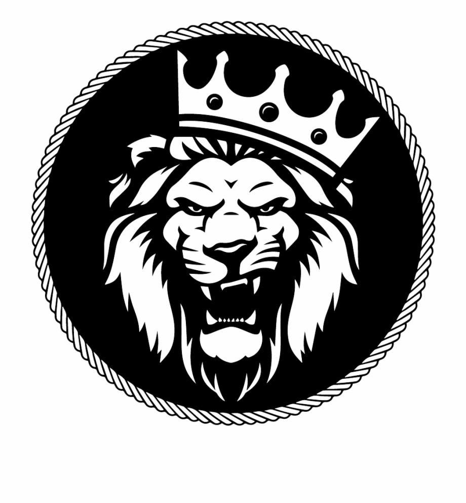 Lion roar clipart black and white png vector black and white download Podcasts - Roaring Lion With Crown Logo Free PNG Images ... vector black and white download