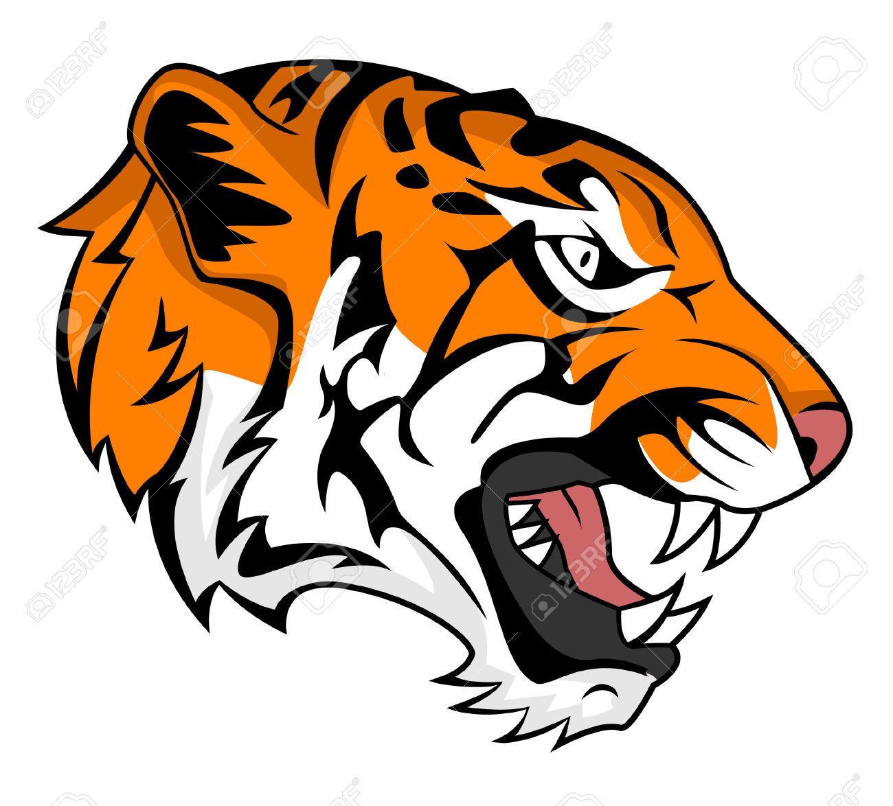 Roaring tiger head clipart svg freeuse download Tiger Head Clipart | Free download best Tiger Head Clipart ... svg freeuse download