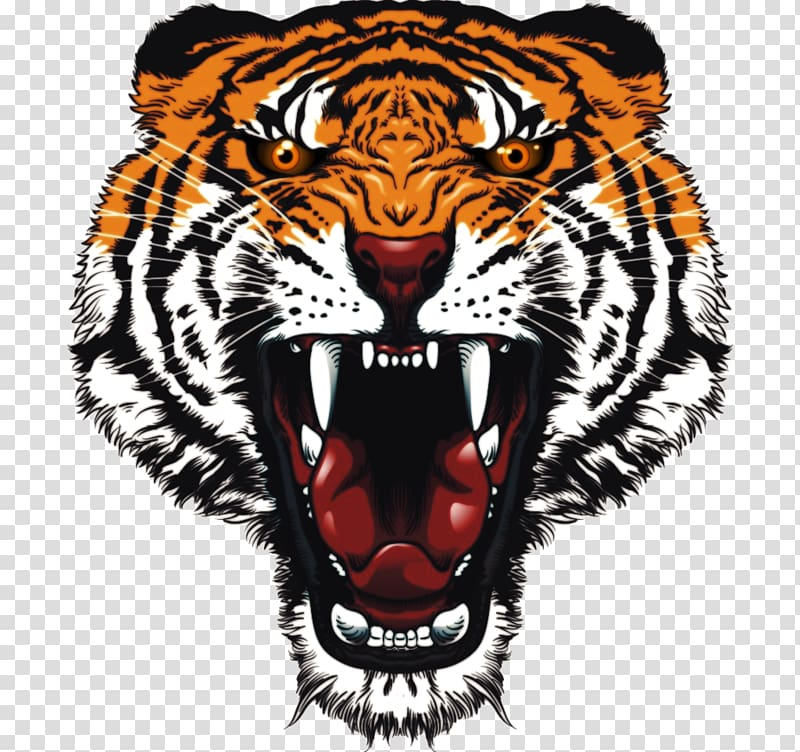 Roaring tiger head clipart clip art library White tiger Felidae , tiger transparent background PNG ... clip art library