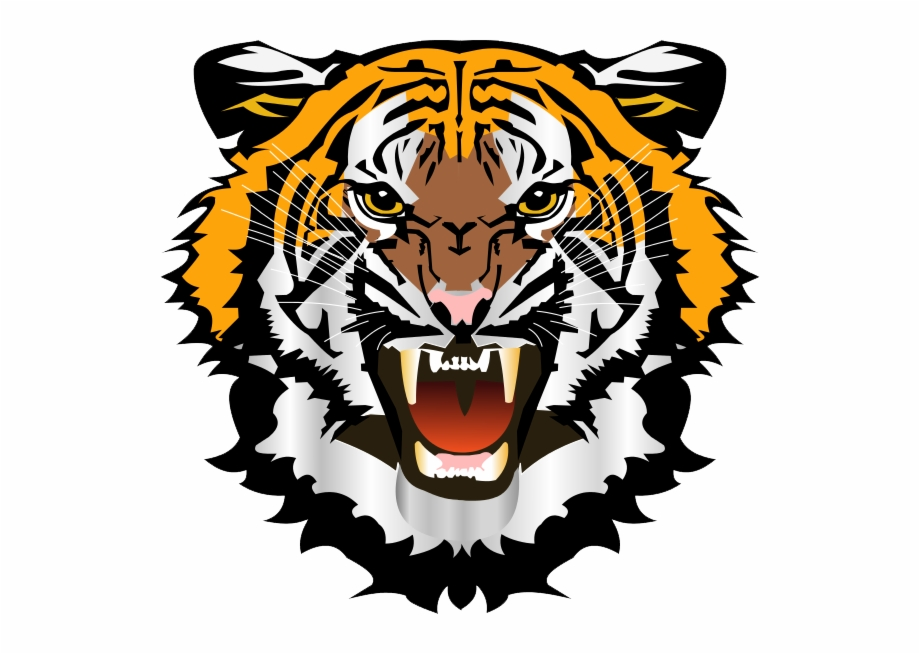 Tiger logo clipart graphic black and white stock Tiger Png Logo - Tiger Face Clipart Png Free PNG Images ... graphic black and white stock
