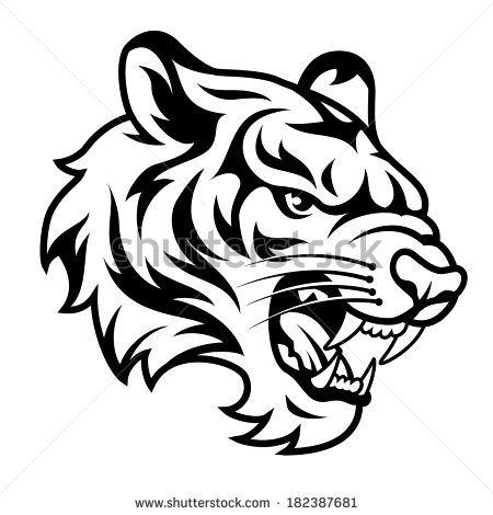 Roaring tiger head clipart banner library stock Roaring tiger\'s head isolated | Clipart Panda - Free Clipart ... banner library stock