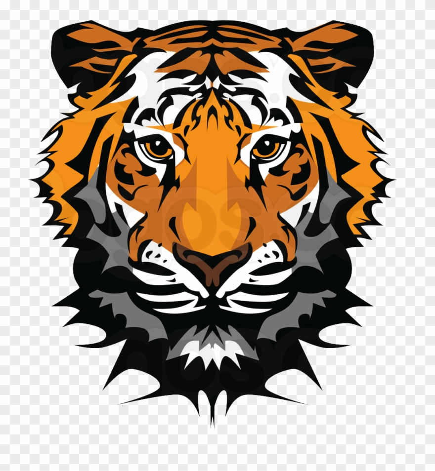 Roaring tiger head clipart clipart black and white library Cartoon Tiger Roaring Clipart (#2092714) - PinClipart clipart black and white library