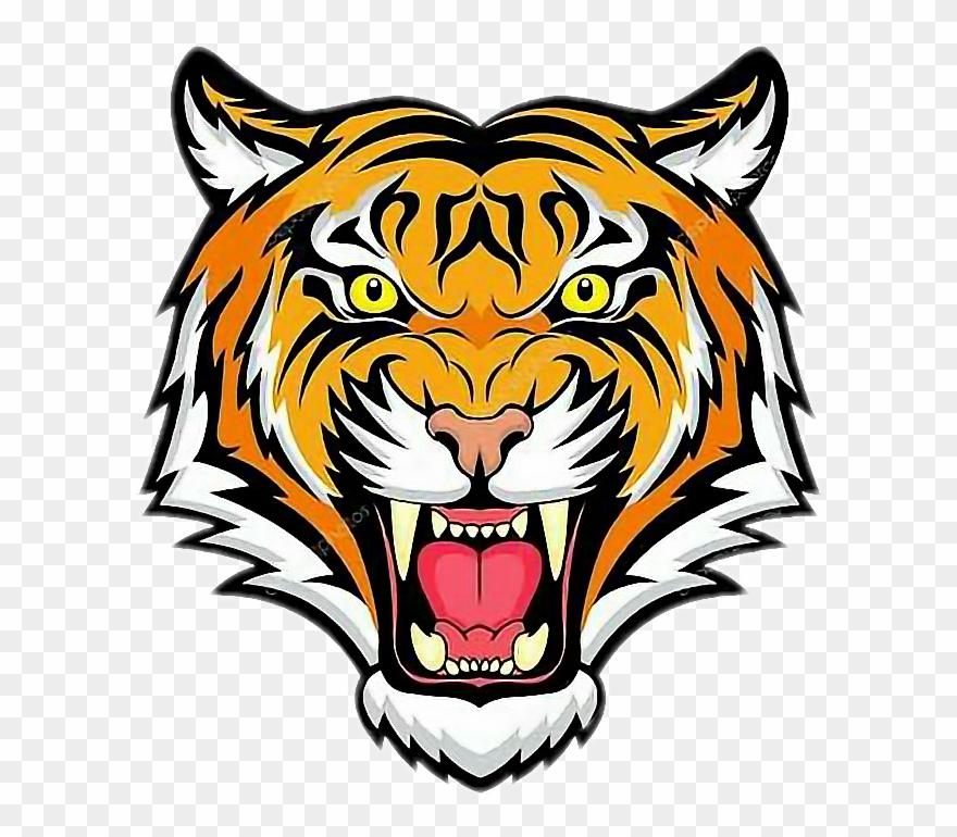 Roaring tiger head clipart banner transparent download Clipart Tiger Roaring - Tiger Head - Png Download (#672891 ... banner transparent download