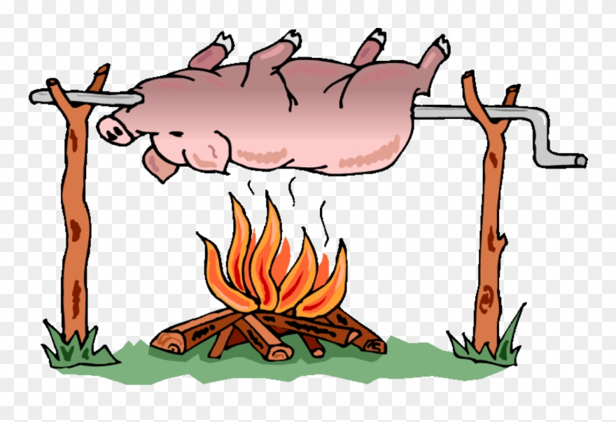 Roast clipart png free library 17th Annual Hog Roast - Pig On A Spit Clipart (#454667 ... png free library