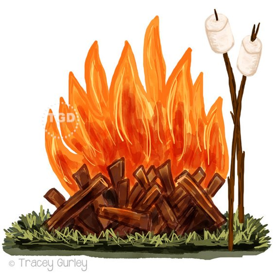 Roasting by campfire clipart picture transparent Campfire and Marshmallow Clip Art - watercolor Clip Art ... picture transparent