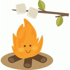 Roasting by campfire clipart jpg library download Cute campfire roasting marshmallows | Silhouette PNC | Clip ... jpg library download