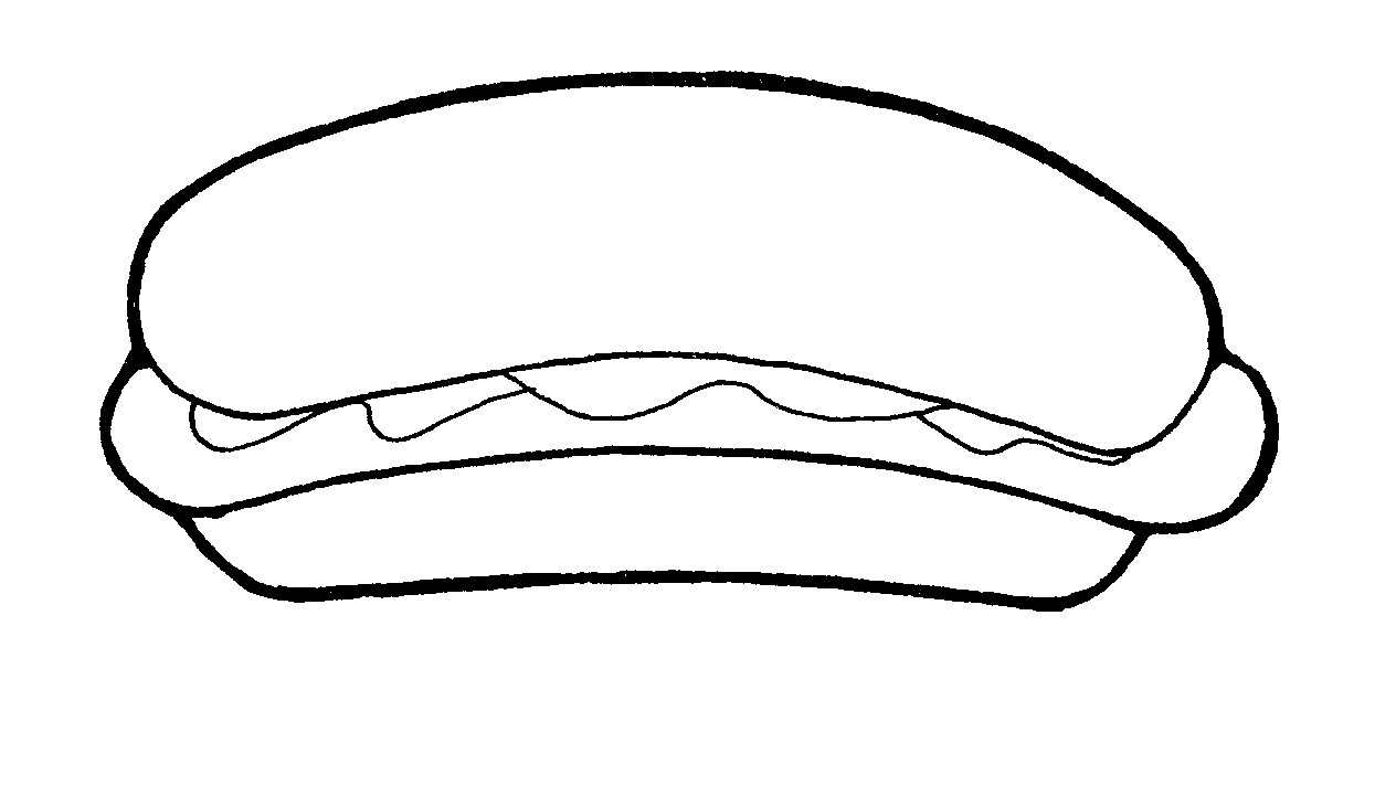 Hot dog in a bun line drawing clipart clip art transparent library Free Photo Hot Dogs, Download Free Clip Art, Free Clip Art ... clip art transparent library