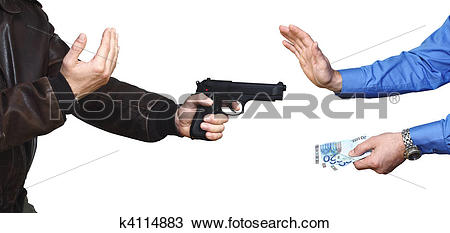 Robber background clipart clipart freeuse stock Stock Photo of armed robbery background k4114883 - Search Stock ... clipart freeuse stock
