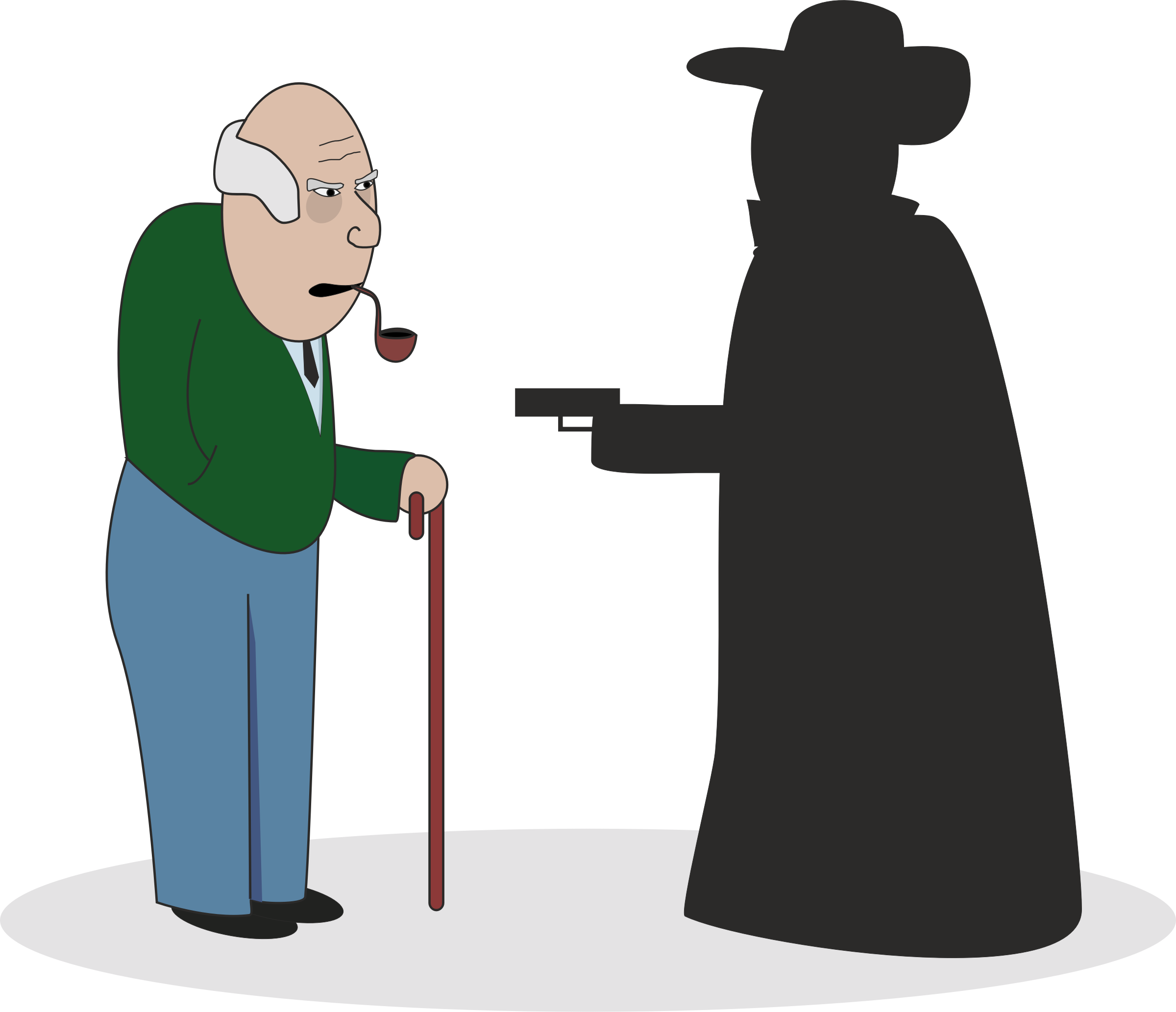 Robber clipart graphic transparent Clipart - Grandpa with robber graphic transparent