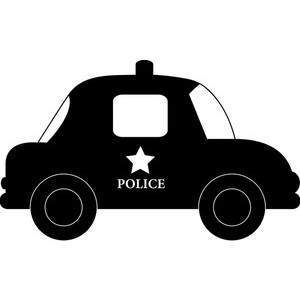 Robber in cop car clipart vector freeuse Cop car clipart black and white - ClipartFest vector freeuse