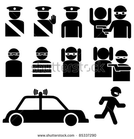 Robber in cop car clipart image library library Cops And Robbers Stock Images, Royalty-Free Images & Vectors ... image library library