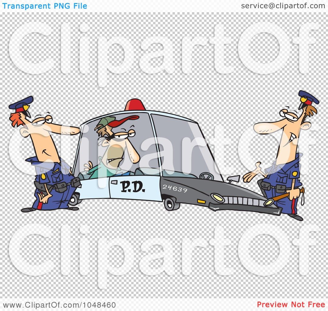 Robber in cop car clipart svg library library Royalty-Free (RF) Clip Art Illustration of Cartoon Cops With A ... svg library library