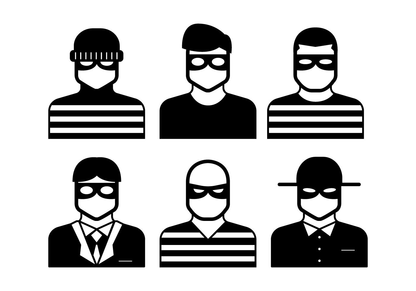 Robber outline clipart jpg free stock Robber Free Vector Art - (835 Free Downloads) jpg free stock