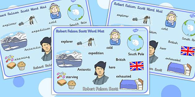 Robert falcon scott clipart svg freeuse download Robert Falcon Scott Word Mat - Robert, Falcon, Scott, Word, Mat svg freeuse download
