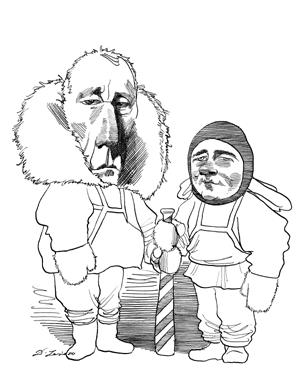 Robert falcon scott clipart clipart free download Roald Amundsen and Robert Falcon Scott | Caricatures by ... clipart free download