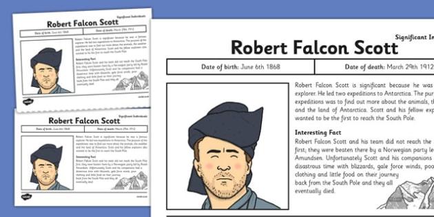 Robert falcon scott clipart vector transparent library Robert Falcon Scott Significant Individual Fact Sheet ... vector transparent library