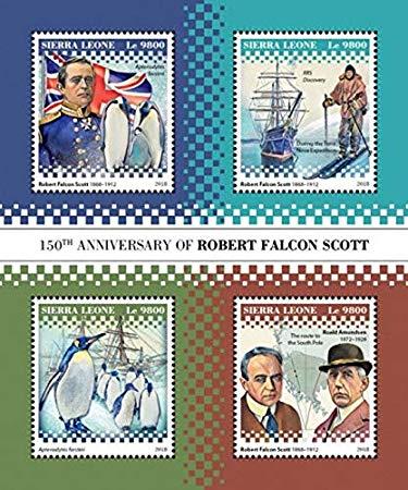 Robert falcon scott clipart png transparent Amazon.com: Sierra Leone - 2018 Robert Falcon Scott - 4 ... png transparent