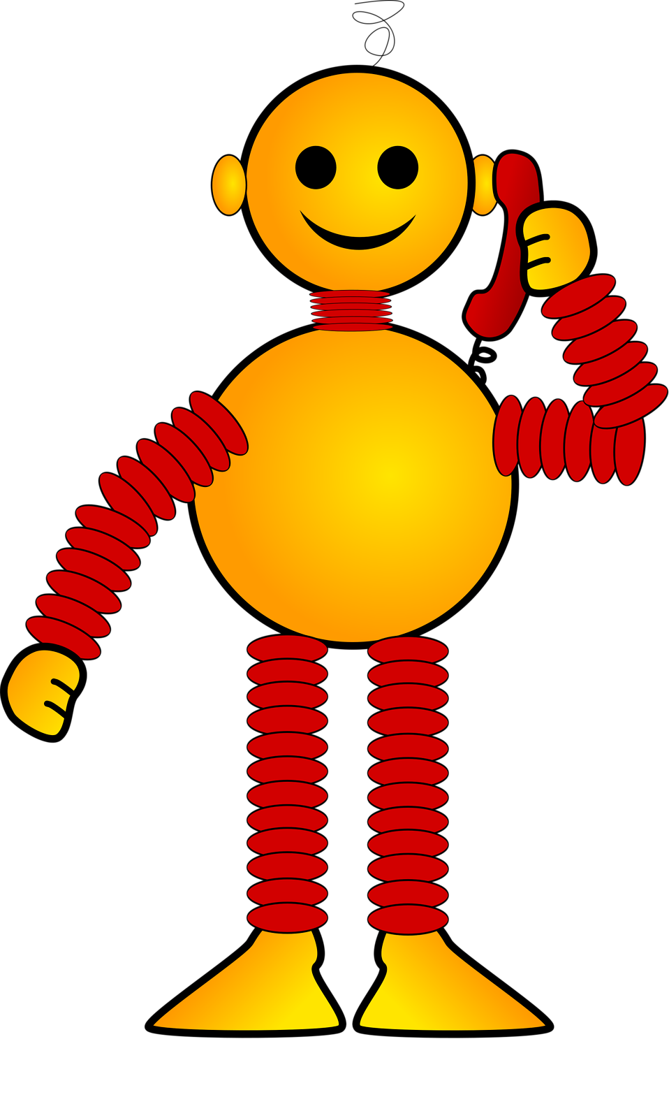 Robot car clipart clipart transparent Robot | Free Stock Photo | Illustration of an orange cartoon robot ... clipart transparent