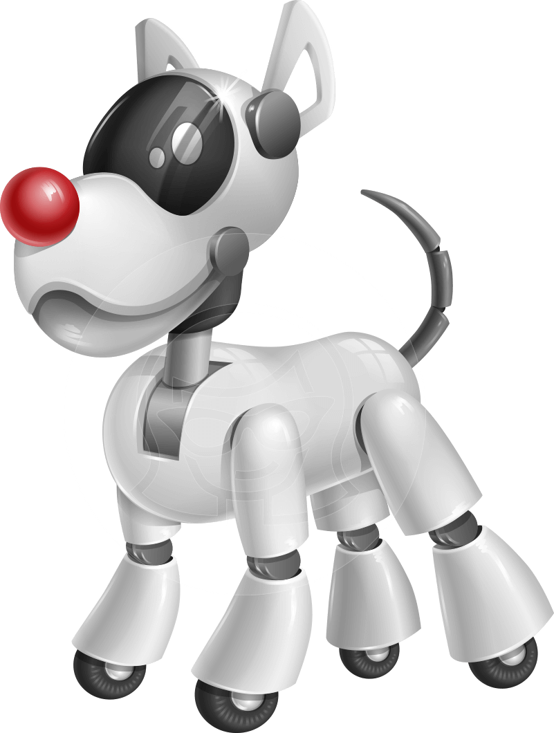 Robot dog clipart image black and white stock Dog robot character design illustration #robot #graphicmama | Animal ... image black and white stock