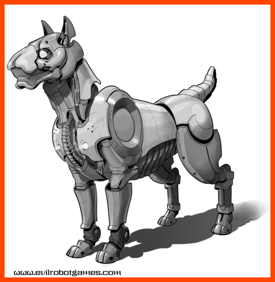 Robot dog clipart graphic freeuse Astonishing Guard Dog Robot By Drawnentity On Pics For Cartoon ... graphic freeuse