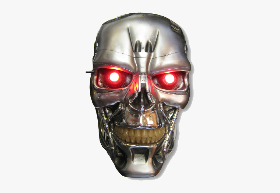 Robot half face clipart clipart royalty free Robot Png Half Face - Terminator Head Png, Cliparts ... clipart royalty free