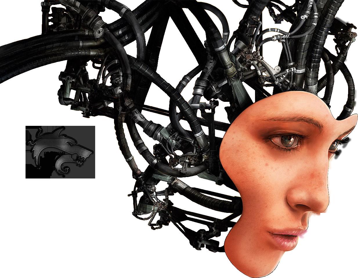 Robot half face clipart picture download Robot Png Half Face - Cyborg Png , Transparent Cartoon - Jing.fm picture download