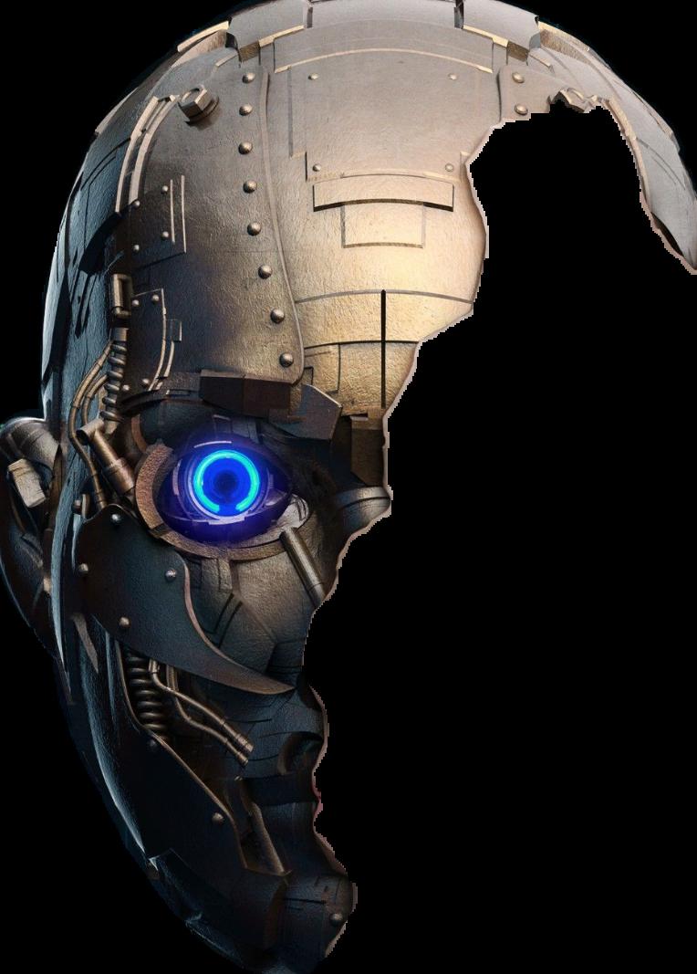 Robot half face clipart picture transparent robot face - Sticker by evelyncabantog picture transparent