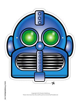 Robot half face clipart png transparent library free printable Robot Mask   Masks printable   Robot mask ... png transparent library