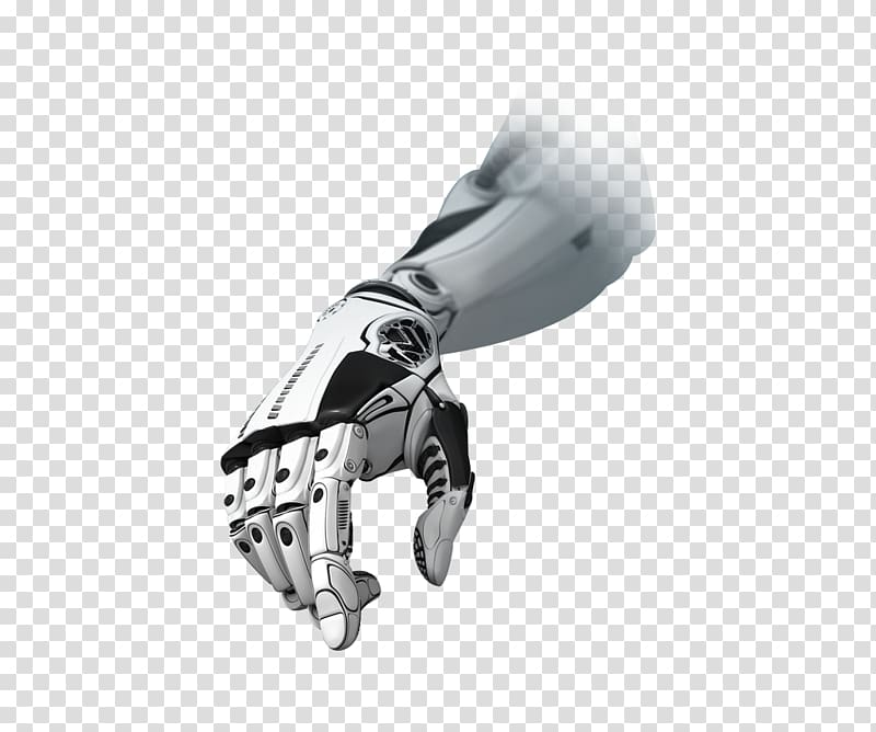 Robot hand clipart vector royalty free download White and black robotic hand illustration, Technology ... vector royalty free download