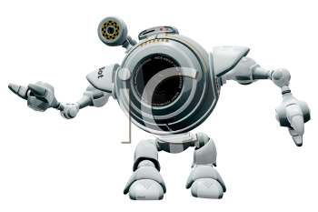 Robot with camera clipart clipart free Royalty Free Clipart Image of a robot web cam web cam ... clipart free