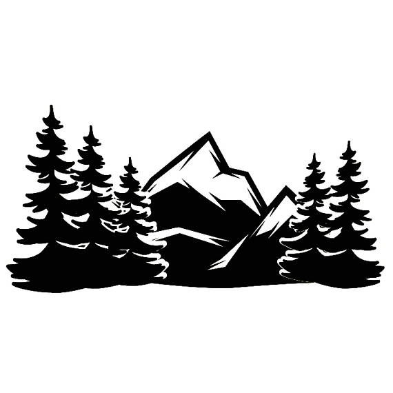 Rock and mountains black and white clipart clip transparent download Mountain Side #12 Forrest Trees Wilderness Rock Climbing ... clip transparent download