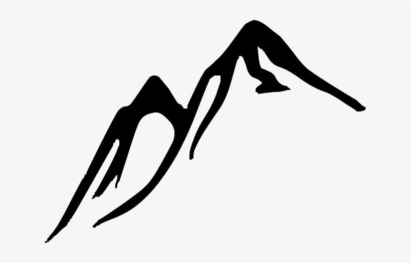 Rock and mountains black and white clipart jpg freeuse Rock - Mountain Clipart Black And White Transparent PNG ... jpg freeuse