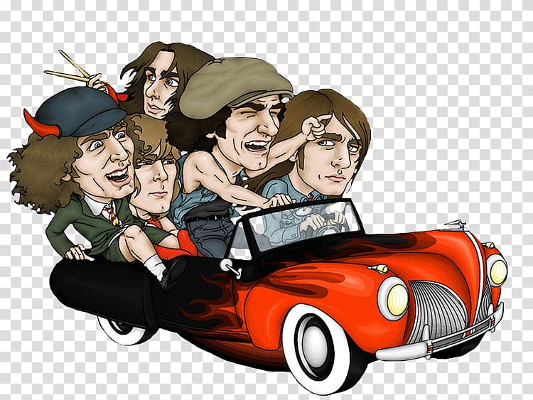 Rock and roll and race cars clipart png black and white library AC/DC Caricature Rock music Rock and roll, others ... png black and white library