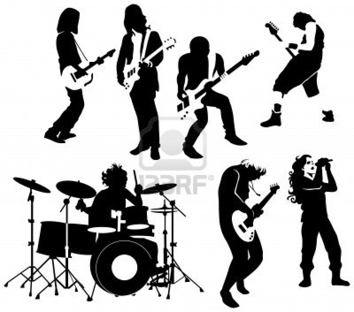Rock and roll clipart black white svg black and white stock Rock & Roll   Silhuettes   Free vector illustration, Clipart ... svg black and white stock