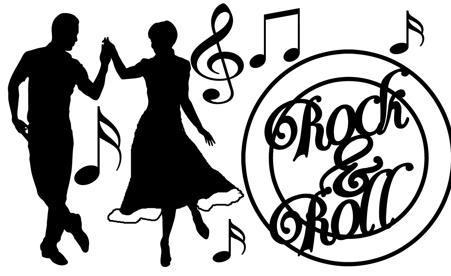 Rock and roll clipart black white clip library download Rock and roll clipart black and white 7 » Clipart Station clip library download