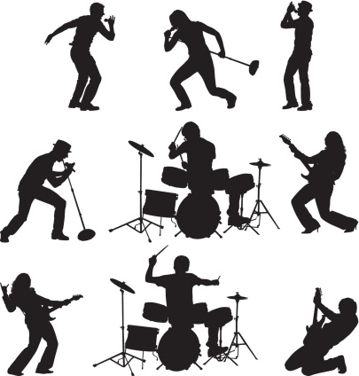 Rock band singer clipart graphic library library 68+ Rock Band Clipart | ClipartLook graphic library library