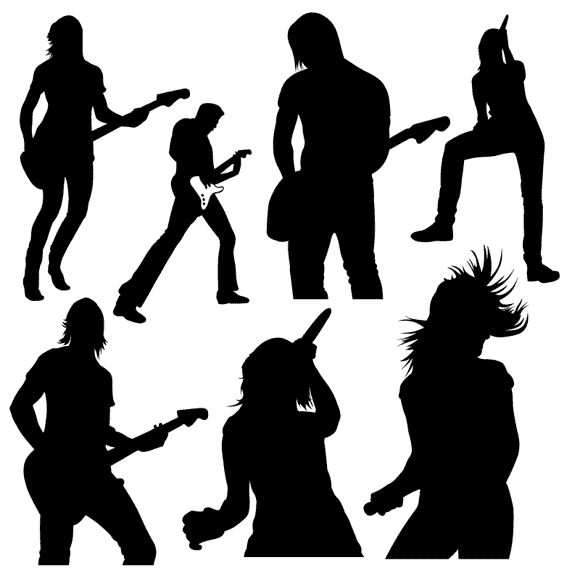 Rock band singer clipart clip free download Working and Playing With Other Musicians - Trust | Tirza\'s ... clip free download