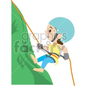 Rock climbing clipart girl jpg black and white cartoon girl rock climbing clipart. Royalty-free clipart # 408406 jpg black and white