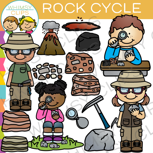 Rock cycle clipart jpg black and white download Rock Cycle Clip Art , Images & Illustrations | Whimsy Clips jpg black and white download