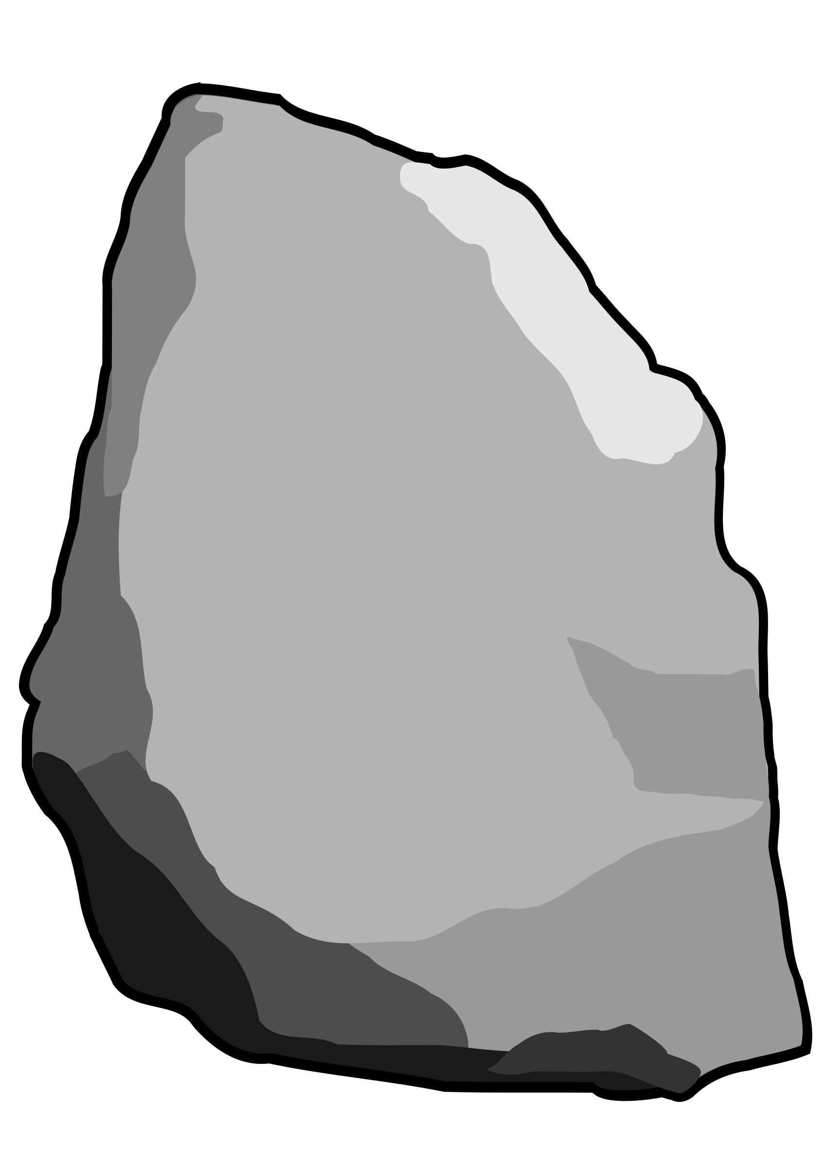 Rock illustration clipart clip art black and white download Grey Stone Rock Vector Clipart image - Free stock photo ... clip art black and white download
