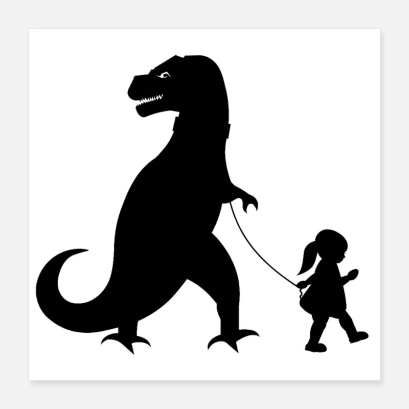 Rock n roll dinosaur black and white clipart graphic free library Shop Rock \'n\' Roll Posters online | Spreadshirt graphic free library