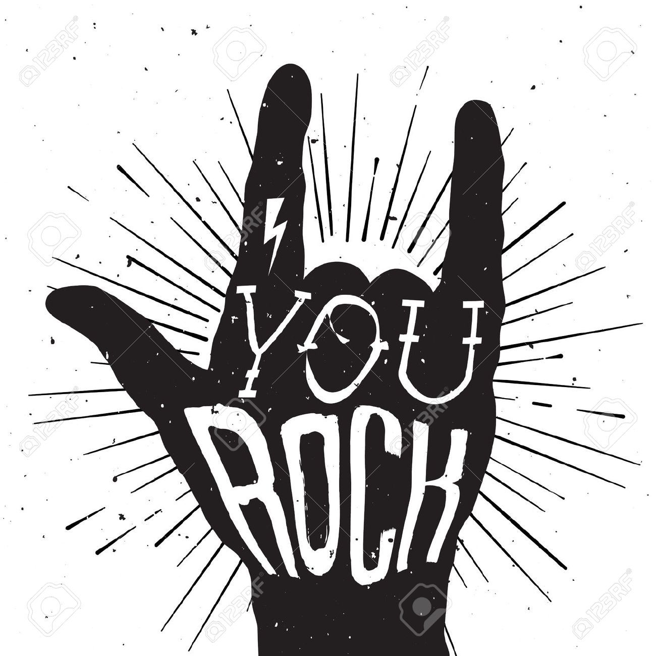 Rock n roll heaven clipart black and white jpg transparent stock You Rock Stock Photos Images. Royalty Free You Rock Images ... jpg transparent stock
