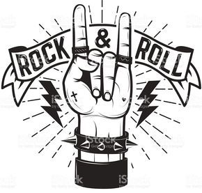 Rock n roll heaven clipart black and white png black and white stock rock-and-roll-sign-human-hand-with-heavy-metal-sign-vector ... png black and white stock